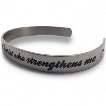 Phil 4:13 I Can Do All Things Through Christ Cuff Bracelet - C4129P0PE4J