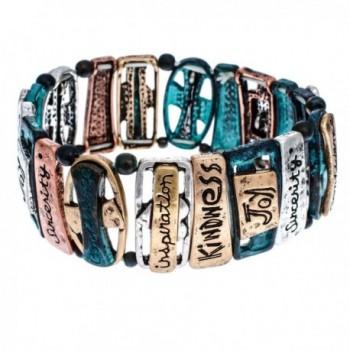 PammyJ Tri Tone Inspirational Stretch Bracelet