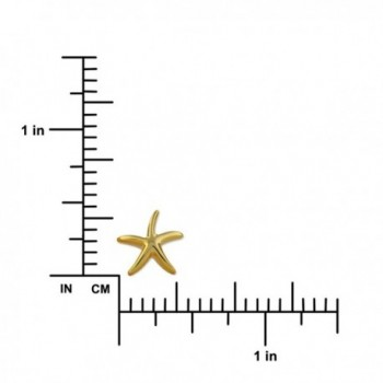Yellow Sterling Silver Starfish Earrings
