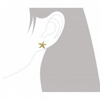 Yellow Sterling Silver Starfish Earrings in Women's Stud Earrings