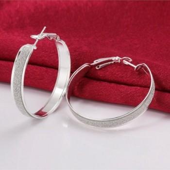 SUNGULF Sterling Glitter Patterned Earring Jewelry