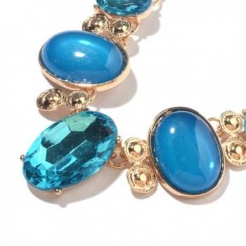 Chroma Glass Goldtone Necklace 18 20