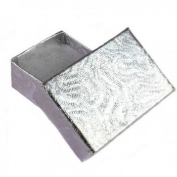 Created Square Sterling Silver Earring