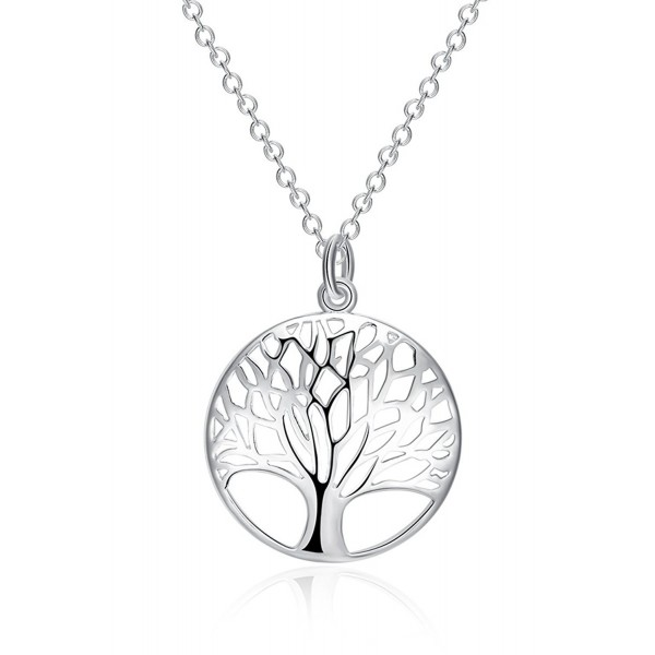 Godyce Tree Of Life Necklace and Earrings Women Jewelry Sterling Silver Plated With Gift Box - CV12HXPS0HB