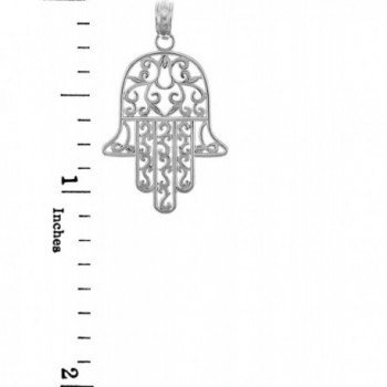 Sterling Silver Jewish Filigree Pendant
