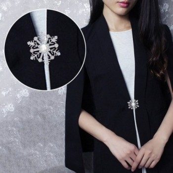EleQueen Silver tone Simulated Snowflake Pendant