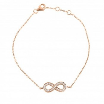 Sterling Infinity Bracelet Simulated Diamonds