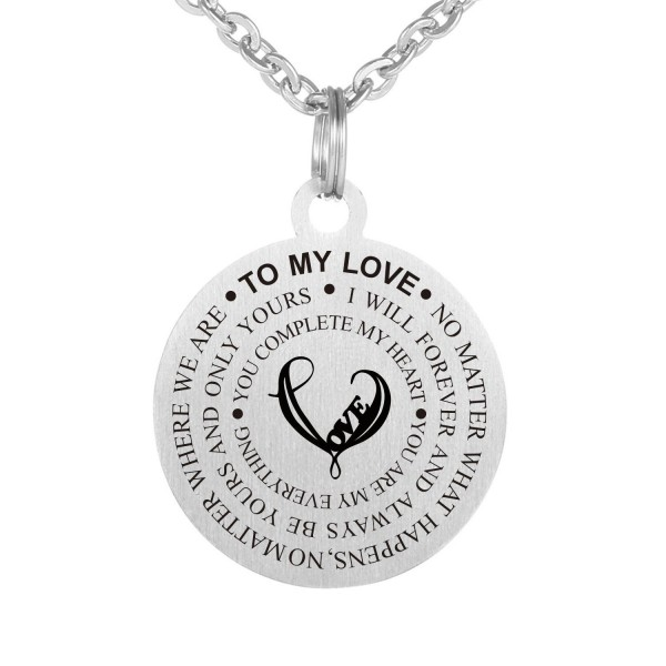 Love Gift To My Love No Matter What Happens Stainless Steel Dog Tag Pendant Necklace Keychain - CD187Q04U06