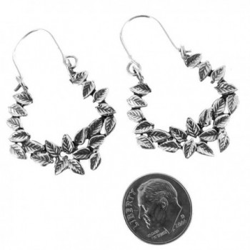 Sterling Silver Oxidized Flowers Earrings
