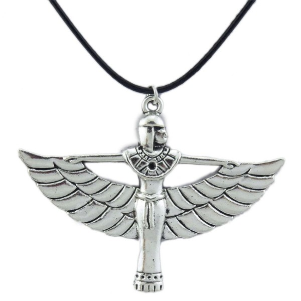 (2 Pack) Pharaonic Egyptian Goddess Isis Ancient Egypt God Winged Pendant Charms Necklace - CT127MPT0SP