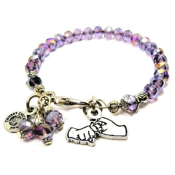 Friendship In Sign Language Splash of Color Bracelet in Lavender Purple - C112J6CV60H