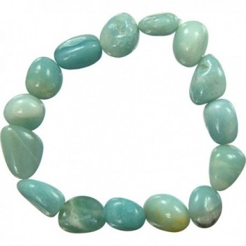 The New Age Source Tumbled Stones Bracelet Amazonite - CA11HZ1F89H