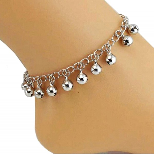 Fullkang Women Bells Anklet Bracelet Sandal Barefoot Beach Foot Jewelry - CG120GEXBK7