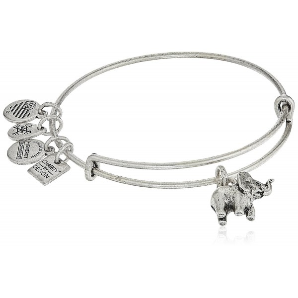 alex and ani charity by design- elephant ii bangle bracelet - Rafaelian Silver - CF182KIIK66