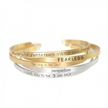 Personalized Engraved Customized inspirational BRUSHED mantra cuff Bangle bracelet- BBR446- New BBR288 - CA1873CXXWA