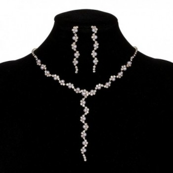 YUXI Rhinestone Necklace Earrings Accessories