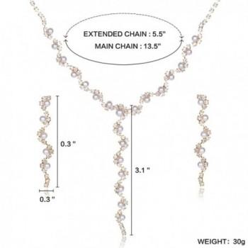YUXI Rhinestone Necklace Earrings Accessories in Women's Jewelry Sets