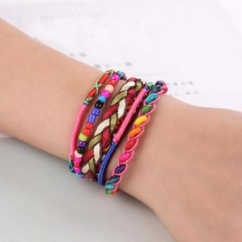 ARINLA Bracelet Handmade Multilayer Wristband in Women's Bangle Bracelets