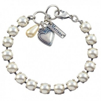 "Mariana Tennis Bracelet- Silver Plated with Frost Swarovksi Crystal- 8"" 4252 139 - C212D8QRI8V"