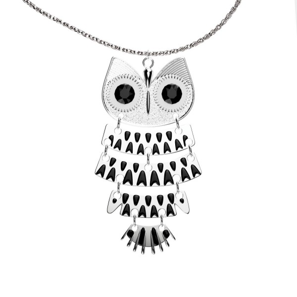 Luvalti Women Vintage Owl Pendant Necklace - Fashion Jewelry - 29.9'' - CD187ADD05O
