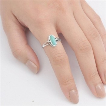 Sterling Silver Womens Simulated Turquoise