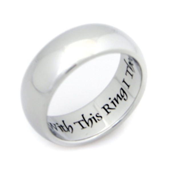 With This Ring I Thee Wed - Inspirational Jewelry - Stainless Steel Ring - Wedding Ring - Couples Ring - CY11E9EXXMH