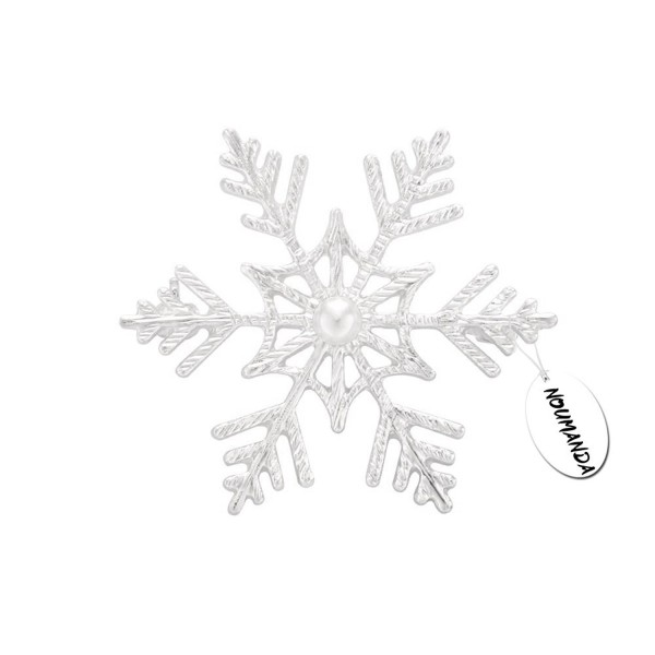 NOUMANDA Winter Wedding Brooch Pin Snowflake Broach Jewelry - CQ12L0QN9EN