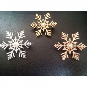 NOUMANDA Winter Wedding Snowflake Jewelry in Women's Brooches & Pins