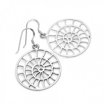 Sterling Filigree Detailed Spiral Earrings