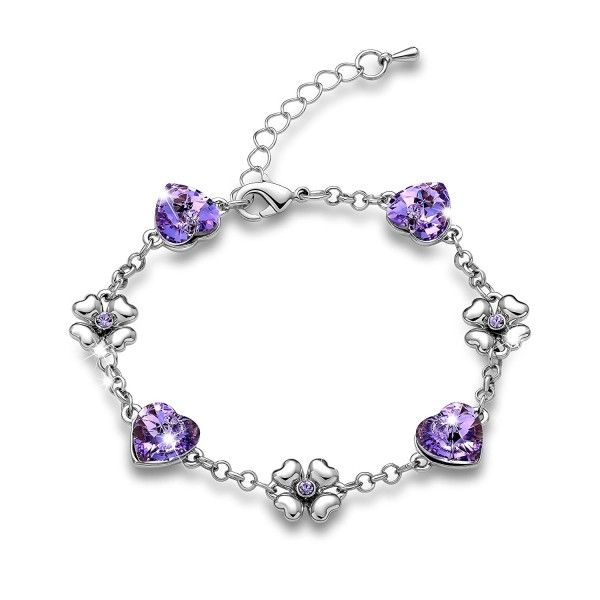 Gimuchy Heart Shape Swarovski Elements Crystal Bracelet For Party Birthday Gift Girlfriend 034