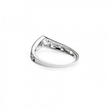 Chevron V Shaped Filigree Sterling Silver in Women's Band Rings