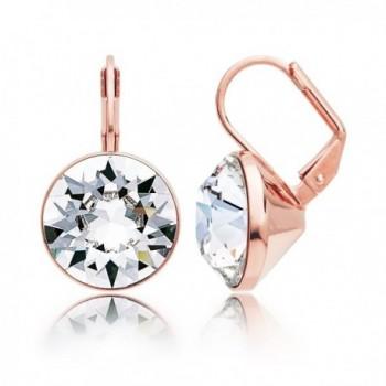 MYJS Bella Statement Earrings Clear Swarovski Crystal Rose Gold Plated - CE12BBWQ9RZ