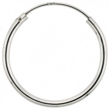 Sterling Silver Endless Hoop Earrings- thin 1 mm tube 3/4 inch round - CL111ICW423