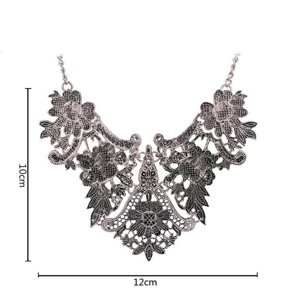 Winter.Z European alloy jewelry accessories hollow retro fashion sweater chain necklace - silver - CM120V1UTYB