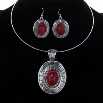 YAZILIND Pendant Statement Necklace Earrings