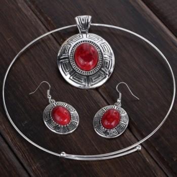 YAZILIND Pendant Statement Necklace Earrings in Women's Jewelry Sets