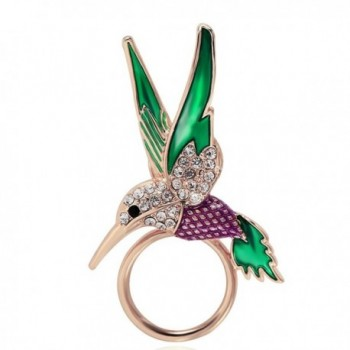 BEICHUANG Hummingbird Strong Magnetic Eyeglass Sunglass Holder Green Purple Bird Brooch Pin - CE1822OKWKU