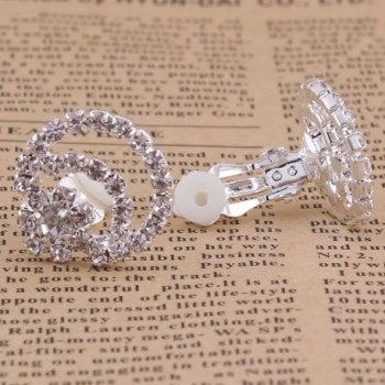 Crystal Earrings Wedding Jewelry Accessories in Women's Clip-Ons Earrings