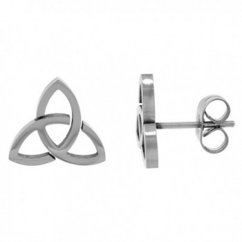 Small Stainless Steel Celtic Trinity Stud Earrings Triquetra available in two sizes - CJ114G8T433