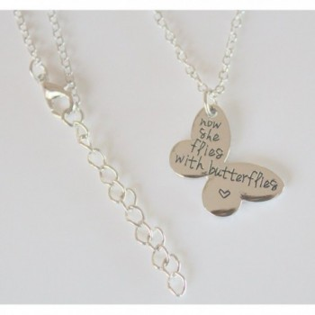 Butterflies Necklace Butterfly Memorial Keepsake
