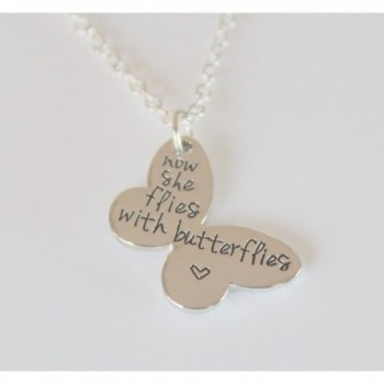 Butterflies Necklace Butterfly Memorial Keepsake in Women's Chain Necklaces