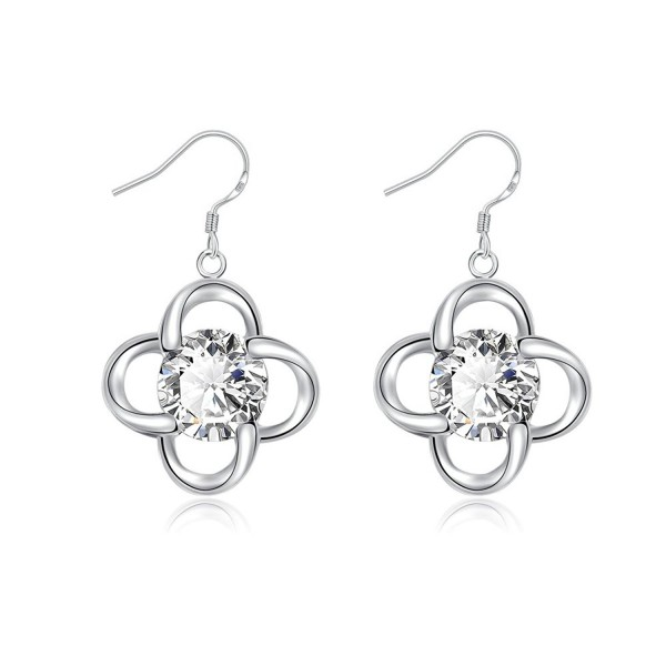 HOSBY 925 Silver Plated Dangle Earrings - C312IAQZADH