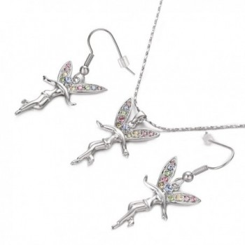 Yoursfs Tinkerbell Colorful Crystals Necklace in Women's Jewelry Sets