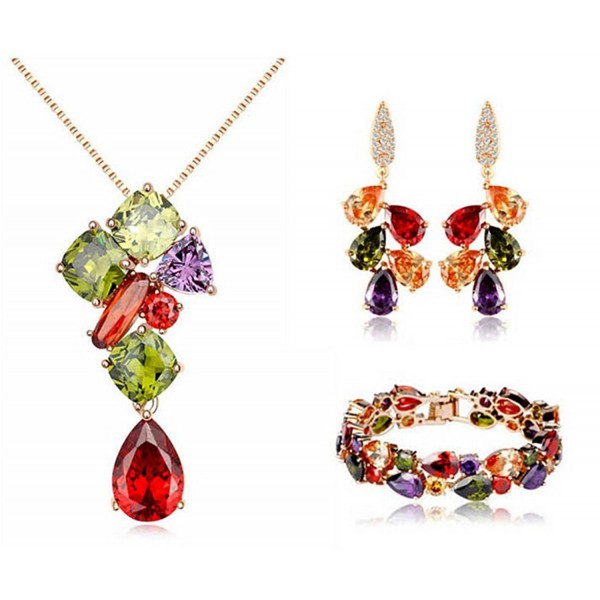 Fashion Jewelry Collection Multicolor Swarovski - C01299WS5NZ