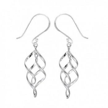 Boma Sterling Silver Spiral Ribbon Dangle Earrings - CV187C808S7