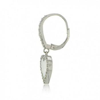 Sterling Silver Zirconia Leverback Earrings in Women's Drop & Dangle Earrings