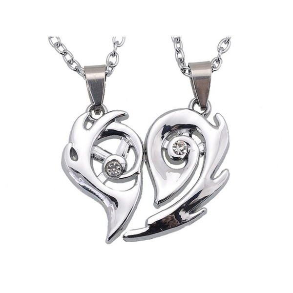 THOBAL 1 pair Silver Alloy lovers pendant couple relationship necklace puzzle necklace for couples - C712H1JQVLV