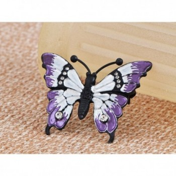 Alilang Multicolored Rhinestone Enamel Butterfly
