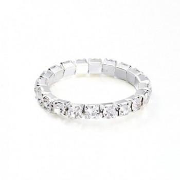 Yumei Jewelry Bracelet Silver tone Sparkling in Women's Strand Bracelets