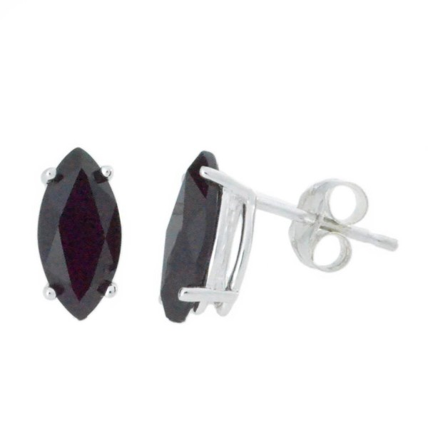 2 Ct Black Onyx Marquise Stud Earrings .925 Sterling Silver - C612CMUZI9P
